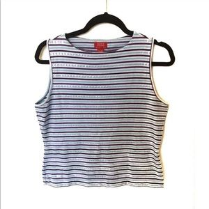 Valerie Stevens / Pima Cotton Striped Tank Top